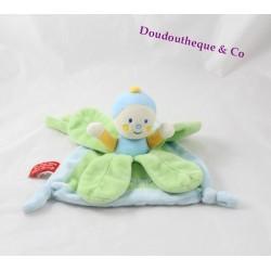 Doudou flat Doum caterpillar boy KATHERINE ROUMANOFF Dim Dam Doum blue green petals Baby Nat '