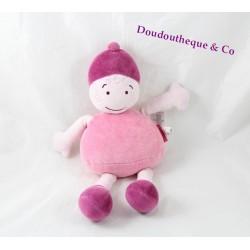 Doudou poupée MARESE fille lutin rose 29 cm