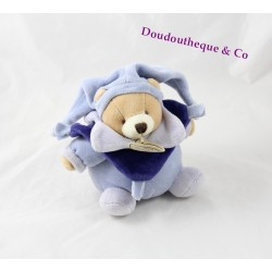 Doudou ours DOUDOU AND COMPANY blue ball 13 cm