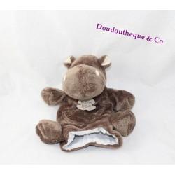 Doudou marionnette Hippopotame HISTOIRE D'OURS