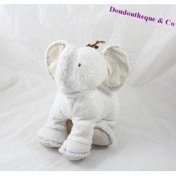 Elephant plush TARTINE ET CHOCOLAT white