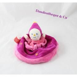 Doudou plat Dam fée KATHERINE ROUMANOFF rose Dim Dam Doum Baby Nat'