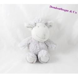Doudou mouton LA GALLERIA gris poil long 23 cm