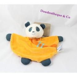 Doudou flat panda ORCHESTRA orange half moon 25 cm