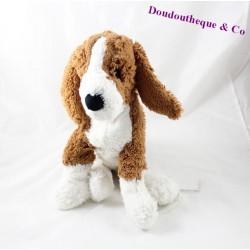 Peluche chien IKEA marron blanc Beagle 36 cm