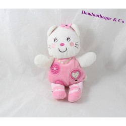 NICOTOY pink cat comforter white flower