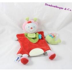 Doudou puppet Ladybug BABYSUN grenadine Bell 27 cm