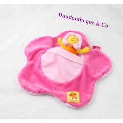 Bibi flat comforter MOULIN ROTY Louna the bee flower pink pocket 27 cm