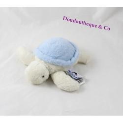 Peluche tortue MARINELAND bleu beige 18 cm