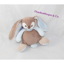 Musical soft toy Emil rabbit NATTOU Emil and Rosy blue brown 17 cm