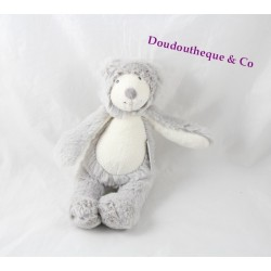 Plush rattle bear MOULIN ROTY The band with Basil gray 22 cm