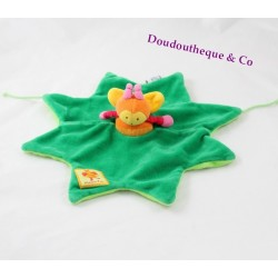 Doudou flat bee MOULIN ROTY Louna green leaf star 30 cm