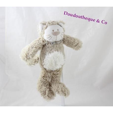 doudou ours beige blanc rayure oscar j-line