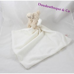 Doudou elephant PRIMARK EARLY DAYS cream white handkerchief 45 cm