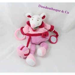 Doudou awakening mouse DOUDOU ET COMPAGNIE Seeds of soft toy gift mirror 25 cm