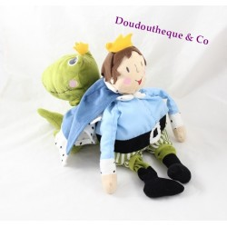 Plush frog Prince IKEA Kvack blue green reversible 40 cm