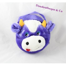 White purple MILKA cow plush bag advertising Milka fun bag 22 cm
