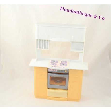 Jouet vintage cuisine de Barbie MATTEL jaune blanc 1999