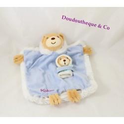 Doudou plat poupon KALOO Igloo bébé ours bleu 23 cm