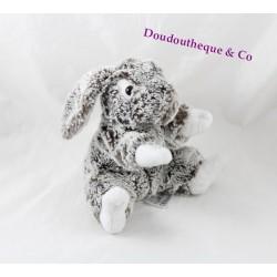 Plush rabbit SOFT FRIENDS mottled brown gray long hair 22 cm