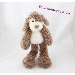 Stuffed dog HISTORY OF BEAR Vagabond brown ecru HO2077 38 cm