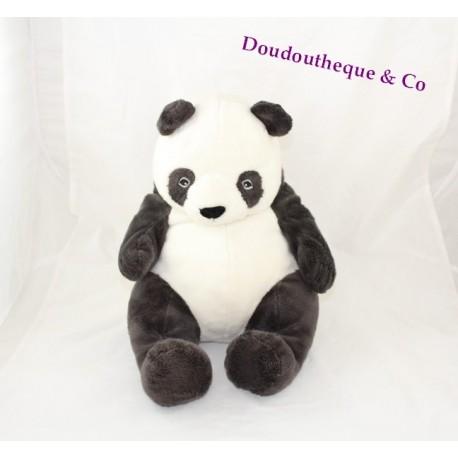 peluche panda ikea klappar noir blanc 32 cm assis sos doudou. Black Bedroom Furniture Sets. Home Design Ideas