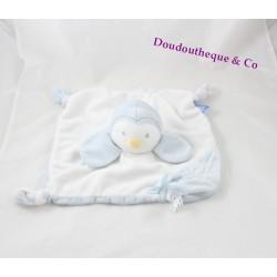 Doudou flat Percy penguin THE GRO COMPANY white blue awakening 27 cm