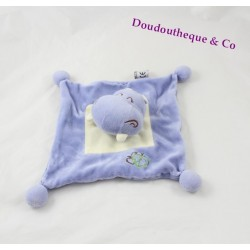 Doudou dish hippopotam MGM Dodo love blue leaf 30 cm