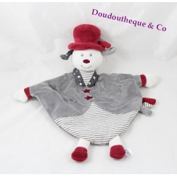 Olaf dog flat capless SAUTHON Faustine and Olaf gray red 33 cm