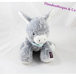 Plush donkey KALOO Regiss' donkey Friends gray bandana blue 25 cm