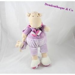 Plush hippopotamus Leo DOUDOU AND COMPANY Z'amigolos hippo with baby 32 cm