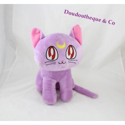 Peluche chat SAILOR MOON mauve 30 cm manga dessin animé