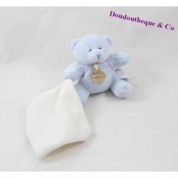 Doudou mouchoir ours DOUDOU ET COMPAGNIE Mon doudou à moi bleu blanc 11 cm