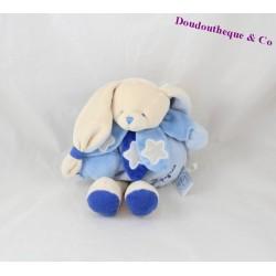 Doudou musical lapin DOUDOU ET COMPAGNIE Chouette ça brille luminescent bleu DC2148 24 cm