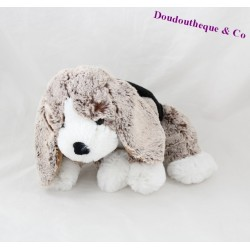 Peluche chien ALINEA marron blanc 28 cm