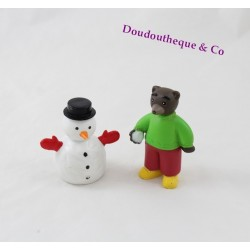 Set of 2 figures little bear Brown DANIÈLE BOUR BAYARD press snowball