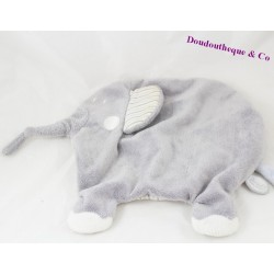 Doudou flat elephant grey stripes DIMPEL 25 cm