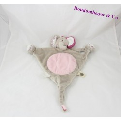 Doudou NOUKIE flat elephant's Kali, Nina and Kenza triangle 34 cm
