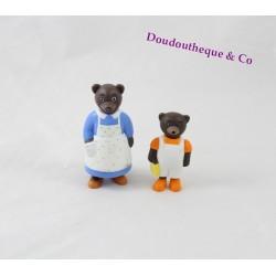 Lot de 2 Figurines Petit Ours Brun DANIELE BOUR BAYARD PRESSE maman et Petit ours