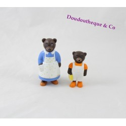 Set of 2 figures little bear Brown DANIÈLE BOUR BAYARD press MOM and little bear