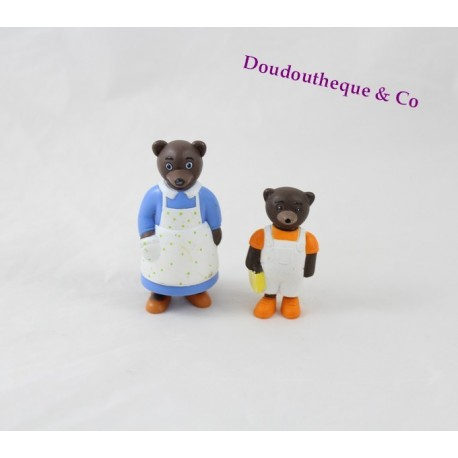 Lot de 2 figurines petit ours brun daniele bour bayard - Petit ours brun et sa maman ...