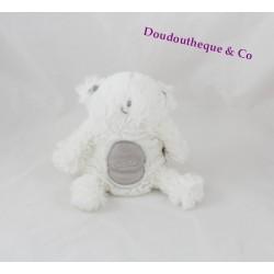 Doudou Frilox ours ORCHESTRA Kazibao blanc gris ORC 17 cm