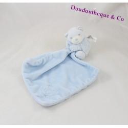 Doudou mouchoir ours KALOO Perle bleu 12 cm