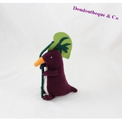 Doudou Penguin TROUSSELIER purple green sheet 19 cm