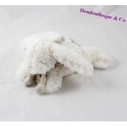 Doudou lapin bonbon DOUDOU ET COMPAGNIE Mon tout petit taupe blanc 18 cm