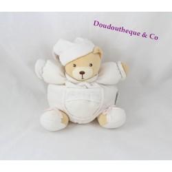 Doudou boule ours KALOO Dragée blanc broderies 18 cm