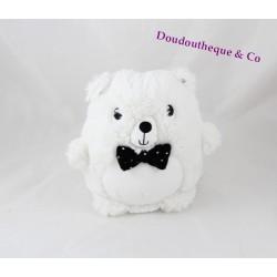 Teddy bear TEX black bow tie white crossroads 19 cm
