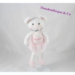 Doudou mouse REPETTO MARÈSE pink dancer tutu 24 cm