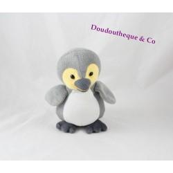 Plush Penguin grey yellow KINDER advertising stuffed 18 cm