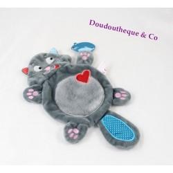 Doudou flat cat Bouboule MICHEL LAFON my blankie fatty gray